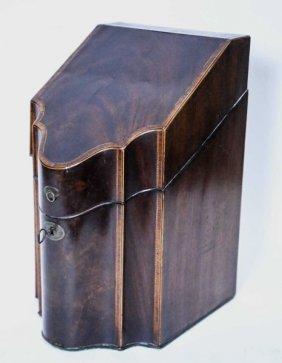Antique Georgian Inlaid Knife Box