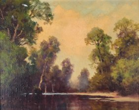 A. D. Greer, Landscape Oil On Canvas