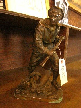 SPELTER STATUE OF SAILOR (4025)