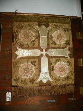 LOVELY SILK EMBROIODERY W FLORAL ACCENTS 1519