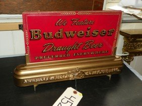 BUDWEISER CUT GLASS ADVERTISING SIGN 4525