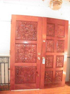2 DOUBLE SIDED OAK DOORS 4616
