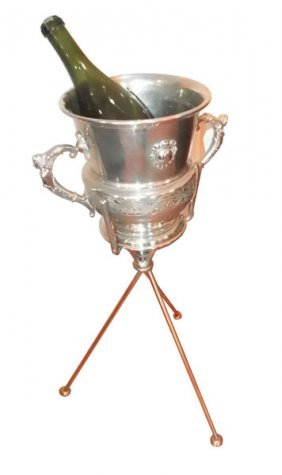 SILVER PLATED  DBL HANDELED CHAMPAGNE BUCKET 1575