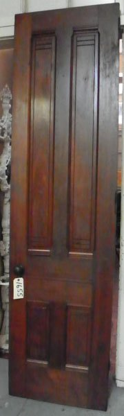 4 PANEL VICTORIAN WALNUT DOOR W/ORG FINISH 1655