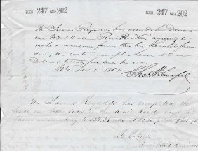 Charles W Sandford Signed Document - Soldier
