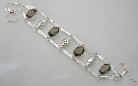 Charm Bracelet With Smokey Quartz