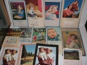 13 Assorted Salesman Sample Calendars