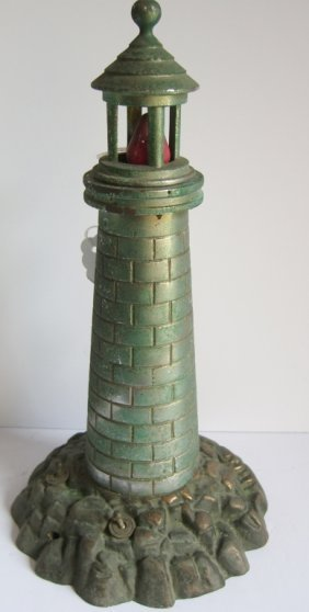 Vintage Bronze Lighthouse Lamp