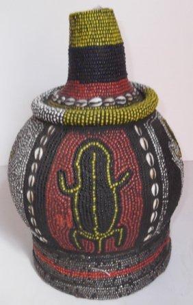 African Beaded Bottle