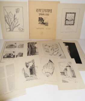 21 Pieces 1930's Illustrations By Marguerite Veser