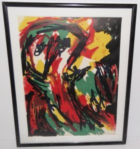 Karel Appel Original Lithograph From Xxe Siecle