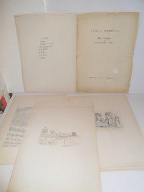 Rudolf Grossmann- Portfolio Of Lithographs