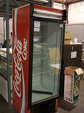 Used glass door refrigerator lookup beforebuying for 1 door retro coke cooler