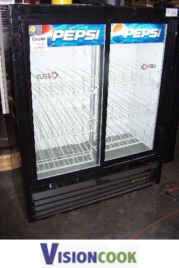 676 True Used Sliding Glass Door Pepsi Cooler Refriger Lot 676
