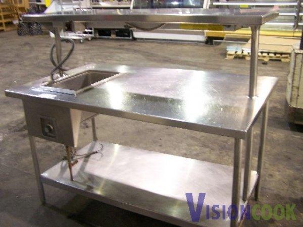 used stainless steel prep table  2