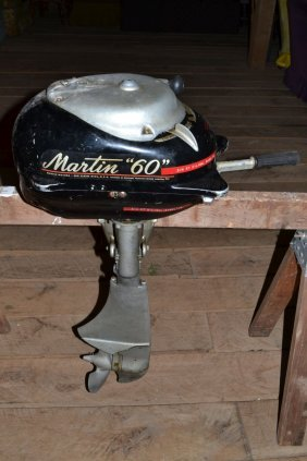 "Martin ""60"" Outboard Motor, S#c80914, With Oil Cloth"
