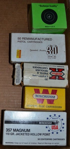 5 Boxes Of Pistol Ammo