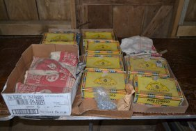 Large Lot Of Lead, Shot And Shot Bags