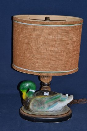 Composition Mallard Table Lamp
