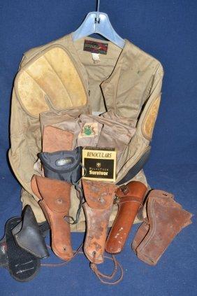 Shooting Jacket, Vest, Binoculars, Us And Other