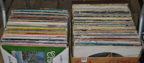 Two Boxes Of Lp Record Albums