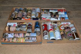 Collection Of Old Beer Cans