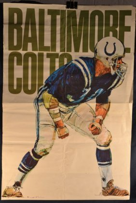 1968 Baltimore Colts Poster: Nfl Collectors Series