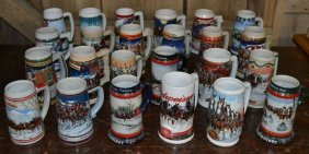 24 Budweiser Collectible Mugs