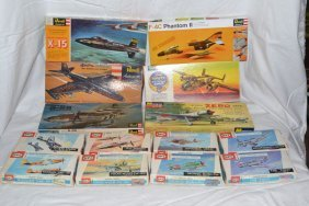 Models: Five Revell And One Monogram Fighter Planes,