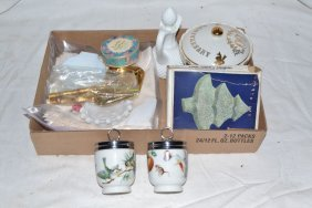 Collection: Two Royal Worcester Egg Coddlers, Etc.