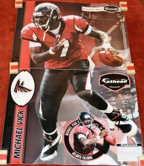 Sports Lot: Falcons Michael Vick Fathead; Patriots