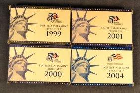Four Us Proof Sets: 1999, 2000, 2001, 2004