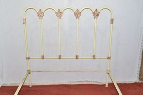 Painted Wrought Iron Double Bed