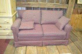 Two Cushion Upholstered Settee