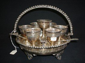 VICTORIAN SILVER PLATED EGG CADDY