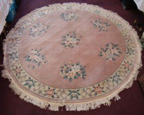 CHINESE AUBUSSON FLORAL RUG