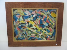Andre Lanskoy Abstract Oil. Signed