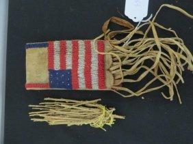 American Indian Buckskin Holder Bead Decoration