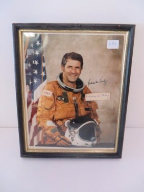 Richard H. Truly Astronaut Photo Signed