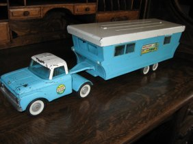 Vintage Nylint Toy Truck W Mobile Home Trailer Lot 188