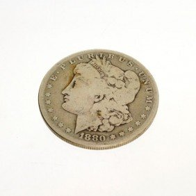 1880-S U.S. Morgan Silver Dollar Coin - Investment