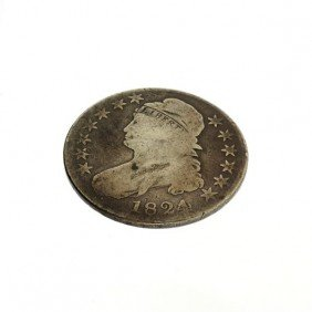 1824 U.S. Busted Capped Liberty Fifty Cent Coin