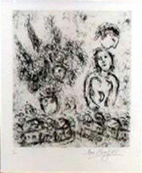 Marc Chagall - Village & The Grand Bouquet Reference