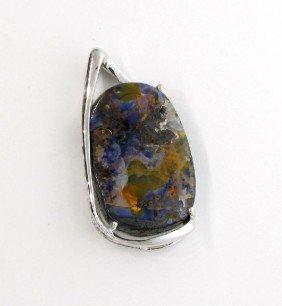 APP: 6k 78.80CT Boulder Opal & Sterling Silver Pendant