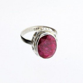 APP: 1.3k 5.90CT Ruby & Sterling Silver Ring