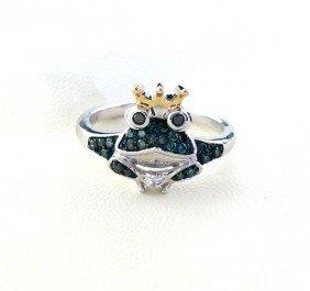 APP: 1k 18kt Gold, 1CT Diamond & Overlaid Silver Ring
