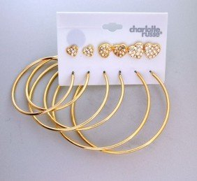 Charlotte Russe - 6 Different Size Earrings Set