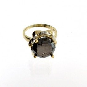 APP: 15k 14kt Yellow & White Gold, 7k Diamond Ring