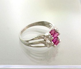 APP: 0.9k 0.59CT Ruby & Sterling Silver Ring