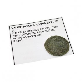 364-375 AD Valentinian I AE 3 Ancient  Coin